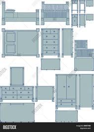 bedroom furniture blueprint vector u0026 photo bigstock