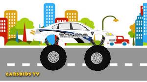 childrens monster truck videos police monster truck mega crushing сartoons u0026 toy for kids