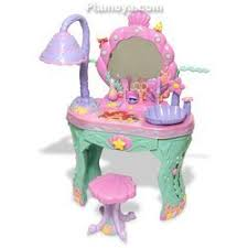 Little Girls Vanity Playset Disney Princess Ariel Little Mermaid Magical Talking Salon