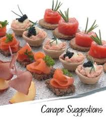 food canapes canape suggestions infusion water canapés