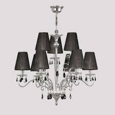 Crystal And Chrome Chandelier Vineyard Light Ac10069bc Black Chrome Chandelier Artcraft Chrome