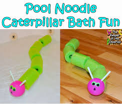 the keeper of the cheerios pool noodle caterpillar bath time fun