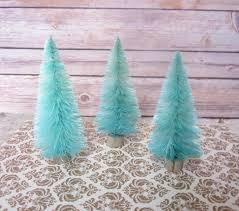Tiffany Christmas Tree Ornament Bottle Brush Christmas Trees Turquoise Blue Aqua Table Decor