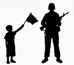 Soldier With Flag Silhouette Soldier Free Download Clip Art Free Clip Art On