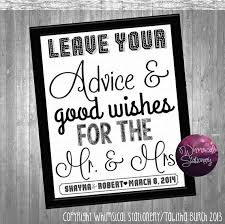Wedding Signs Template Advice U0026 Good Wishes Sign For Wedding Collection Printable