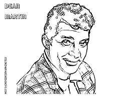 movie star coloring page brando bogart elvis heston newman free