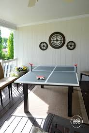 rec tek ping pong table folding ping pong table top table designs