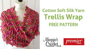Ladder Trellis Yarn Patterns Trellis Wrap Free Crochet Pattern Right Handed Youtube