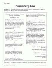 nuremberg law teachervision
