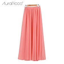 Long Flowy Maxi Skirt Online Get Cheap Long Chiffon Maxi Skirt Aliexpress Com Alibaba