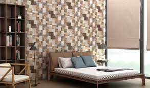 Beautiful Bedroom Tile Design Ideas From NITCO - Living room wall tiles design