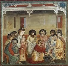 washing of feet fresco by giotto