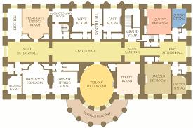 American House Floor Plan White House Floor Plan Map Inside White House Map Spainforum Me