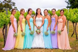 beautiful bridesmaid dresses by for her and for him in an array of