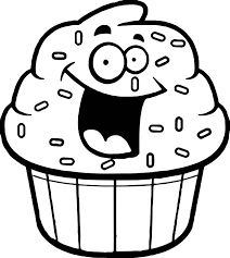 cupcake outline clipart black white free 4 u2013 gclipart