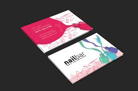 nail salon business card template for photoshop u0026 illustrator