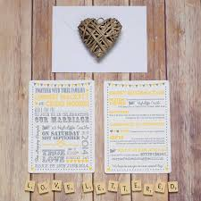 typography text letterpress style wedding invitation by lovely