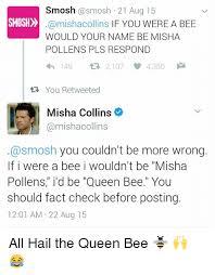 Smosh Memes - smosh 21 aug 15 smosh if you were a bee would your name be misha