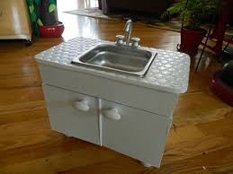 doll house sink cabinet and the first food items on my creative side
