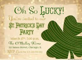 oh so lucky st patrick u0027s day party invitation bold shamrock irish