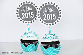 New Years Cupcake Decorations by New Year U0027s Eve Cupcake Toppers Or Gift Tags The Crafting Chicks