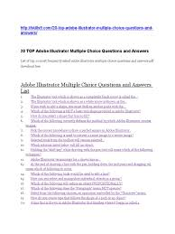 adobe illustrator multiple choice questions and answers list docx