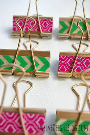 washi tape diy gilded washi dollar store binder clips twelveoeight