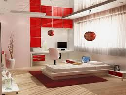 Red Laminate Flooring Red White Wall Paint Decoration In Japanese Interior Designer Has