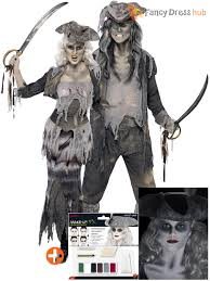 ghostly lady halloween costume mens ladies ghost zombie pirate costume make up halloween fancy