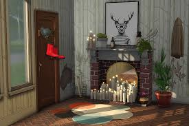 my sims 4 blog romantic candle fireplace by kiwisims4