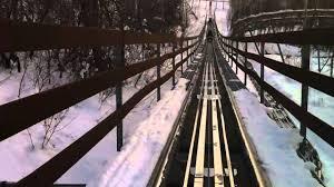 alpine coaster roller coaster in the snow front seat pov park city