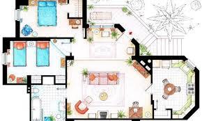 up house floor plan floor plans for your favorite sitcom homes studio 360 wnyc