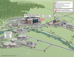 Virginia Tech Campus Map by Carilion Clinic Map English