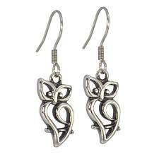 surgical stainless steel owl earrings