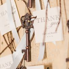key bottle opener wedding favors antique style key bottle opener in gift packaging weddingstar