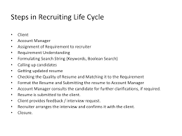 Hr Recruiter Job Description For Resume by Us Recruitment