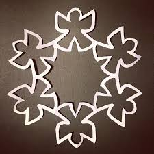 120 best paper snowflake patterns images on paper