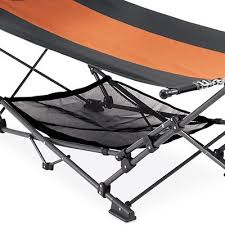 four seasons courtyard hammock with removable canopy gun metal