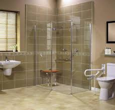 Bathroom Shower Bases Roll In Handicapped Shower With Barrier Free Shower Base