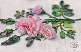 silk ribbon roses garden party part 4 hearty craft
