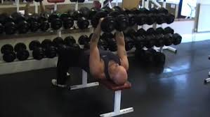 Bench Pressing With Dumbbells Twisting Dumbbell Bench Press Video Exercise Guide U0026 Tips