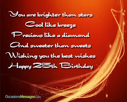 silver jubilee birthday wishes 25th birthday wishes birthday