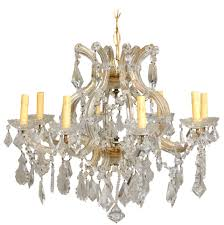 italian eight light maria theresa style vintage crystal chandelier