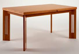 Cherry Wood Desk Art Nouveau Style Table Cherrywood Rectangular Extending