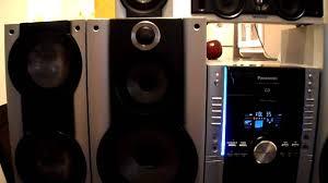 panasonic dvd home theater sound system panasonic home theater mini hi fi system 5 cds youtube