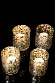 decorating mercury glass candle holders for pretty home