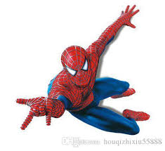 Spiderman Decoration Large Pvc Cartoon Spiderman Baby Wall Stickers For Kids Nursery