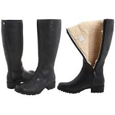 ugg womens boots with zipper ugg womens boots broome ii black zipper fur lined us size 9