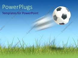 football powerpoint template soccer player sports powerpoint