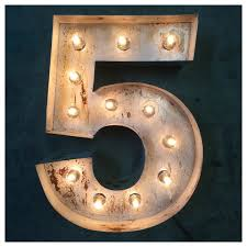 marquee numbers with lights marquee numbers 18 custom steel number light up number vintage